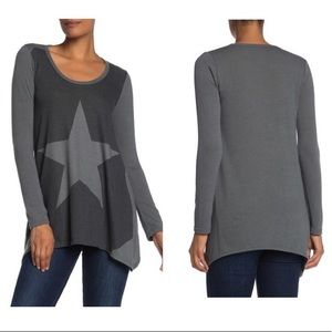 Go Couture Long Sleeve Handkerchief Tunic (T266)